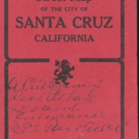 Topographical and Street Map of the City of Santa Cruz