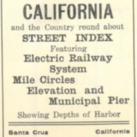Thurston's New Map of Santa Cruz California and the Country Round About