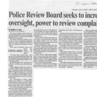 Police Review Board seeks to increase oversight, power to review complaints